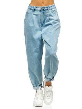 Niebieskie spodnie jeansowe damskie mom fit Denley WL1699