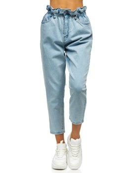 Niebieskie spodnie jeansowe damskie mom fit Denley WL1758