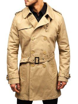 Płaszcz męski trencz beżowe Denley 5710
