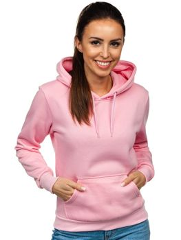 Różowa bluza damska z kapturem Denley KSW2038