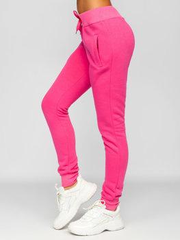 Różowe spodnie dresowe damskie Denley CK-01-19