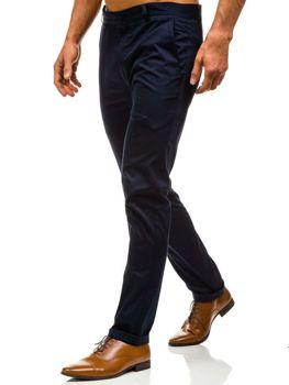 Spodnie chinosy męskie granatowe Denley 0204