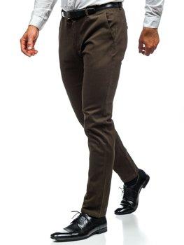 Spodnie chinosy męskie khaki Denley 1120