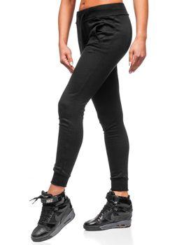 Spodnie dresowe damskie czarne Denley WB11003-A