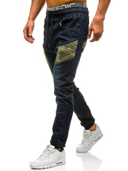 Spodnie jeansowe joggery męskie granatowe Denley 0809