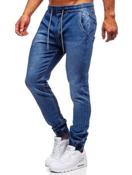 Spodnie jeansowe joggery męskie granatowe Denley  KA1076