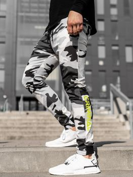 Spodnie joggery męskie czarno-białe Bolf 11119
