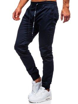 Spodnie joggery męskie granatowe Denley KA951