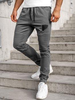 Spodnie joggery męskie szare Bolf 0829