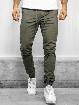 Spodnie joggery męskie zielone Denley KA951