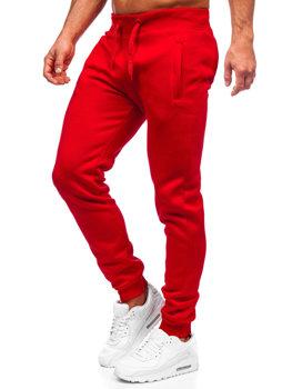 Spodnie męskie dresowe czerwone Denley XW01-A