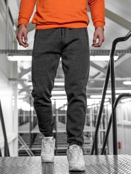 Spodnie męskie dresowe grafitowe Denley JX8935