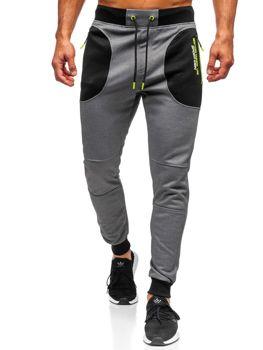 Spodnie męskie dresowe grafitowe Denley TC848