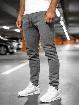 Spodnie męskie dresowe grafitowe Denley XW01