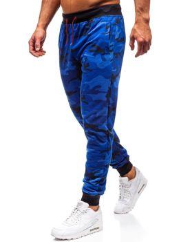 Spodnie męskie dresowe joggery moro-kobaltowe Denley MK19