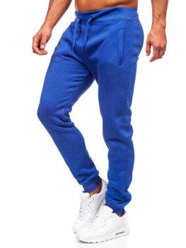 Spodnie męskie dresowe kobaltowe Denley XW01-A
