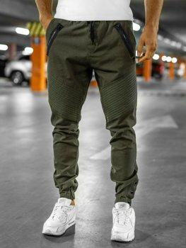 Spodnie męskie joggery khaki Bolf 0952