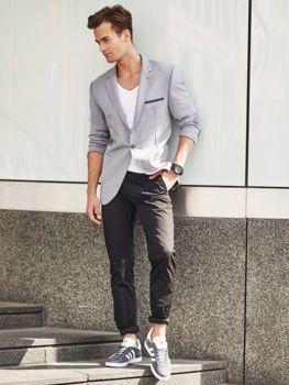 Stylizacja nr 280 zegarek, elegancka koszula, spodnie  fZz3e