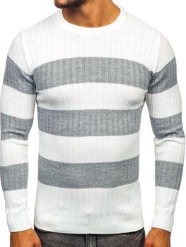 Sweter męski biały Denley 4516