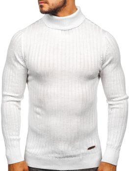 Sweter męski golf biały Denley 3070