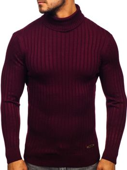 Sweter męski golf bordowy Denley 3070
