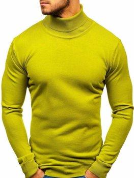 Sweter męski golf jasnozielony Denley 2400