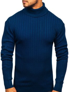 Sweter męski golf niebieski Denley 315