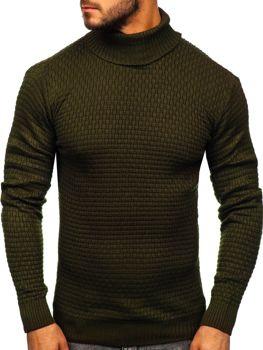 Sweter męski golf zielony Denley 323