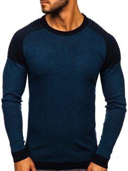Sweter męski niebieski Denley 0004