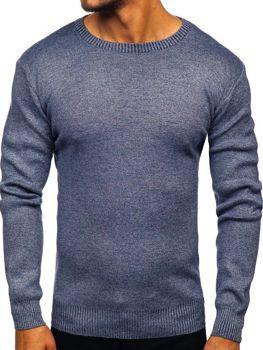 Sweter męski niebieski Denley 8529