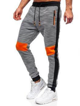 Szare dresowe spodnie męskie Denley K60021