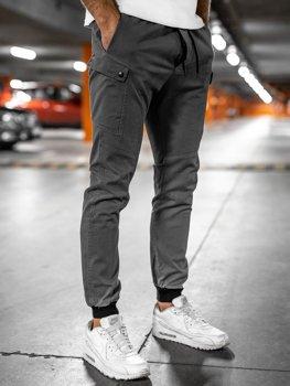 Szare spodnie joggery męskie Bolf B11103