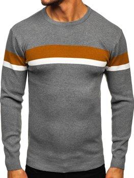 Szary sweter męski Denley H2072