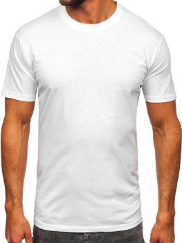 T-shirt męski bez nadruku biały Bolf 14291