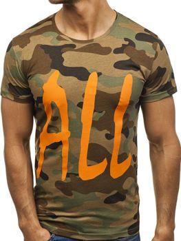 T-shirt męski z nadrukiem multikolor Denley 2102E