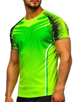 Zielony T-shirt treningowy męski Denley KS2059