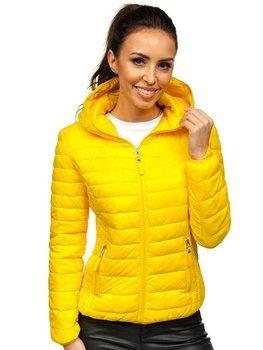 Żółta pikowana kurtka damska przejściowa Denley B0101