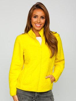 Żółta polarowa kurtka damska Denley HH006
