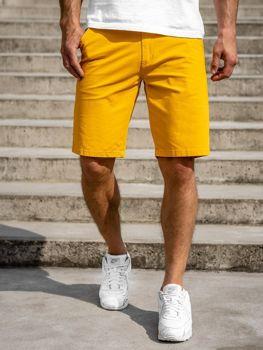 Żółte szorty męskie Denley 1140