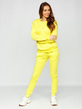 Żółty komplet dresowy damski Denley 0001