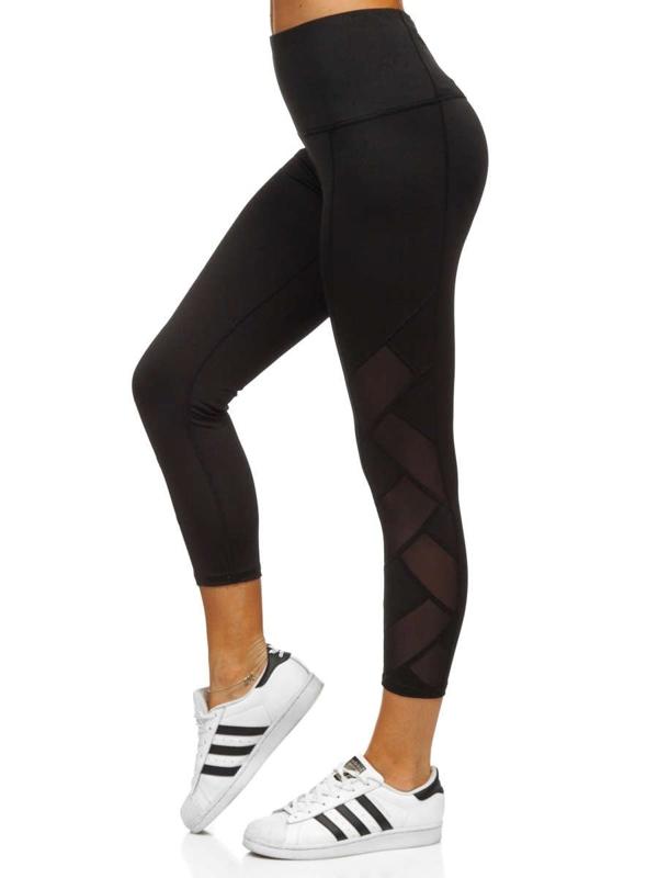 Czarne legginsy damskie Denley 54490