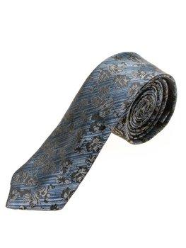 Elegancki krawat męski niebieski Denley K108