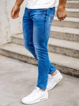 Granatowe spodnie jeansowe męskie skinny fit Denley KX511