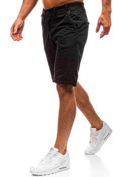 Krótkie spodenki męskie czarne Denley 3020