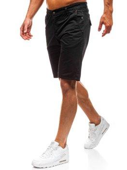 Krótkie spodenki męskie czarne Denley 3041
