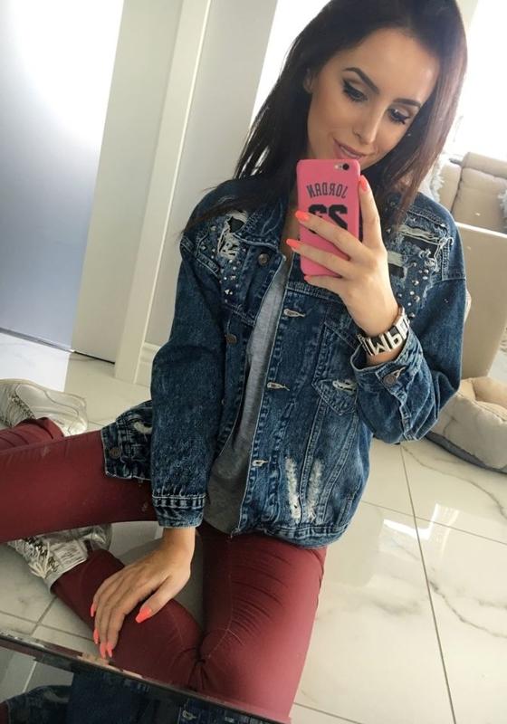 Kurtka jeansowa damska granatowa Denley 5198