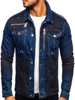 Kurtka jeansowa męska granatowa Denley 5015