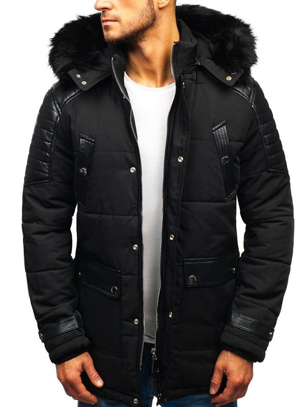 Kurtka męska zimowa czarna Denley 88852