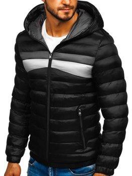 Kurtka męska zimowa sportowa czarna Denley 5935