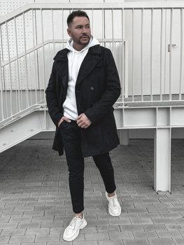 Płaszcz męski zimowy czarny Denley 1048B